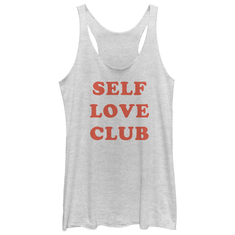 CHIN UP Self Love Club Womens Graphic Racerback Tank