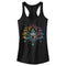 Lost Gods Junior's Rainbow Lotus Flower  Racerback Tank Top