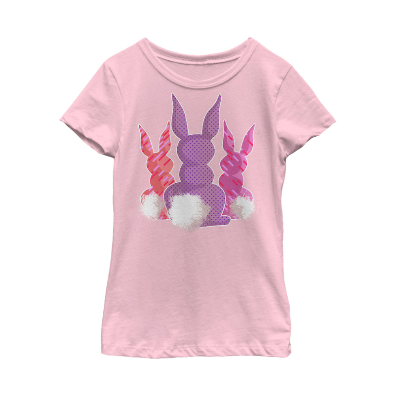 Lost Gods Girl's Easter Bunny Tails  T-Shirt  Light Pink  L