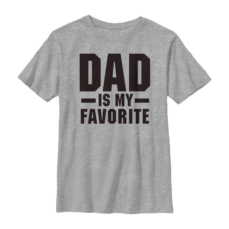 Lost Gods Boy's Father's Day Dad is My Favorite  T-Shirt  Athletic Heather  L