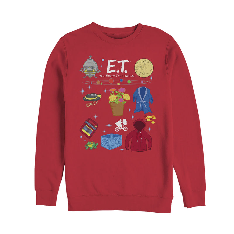 E.T. the Extra-Terrestrial Favorite Movie Props Mens Graphic Sweatshirt