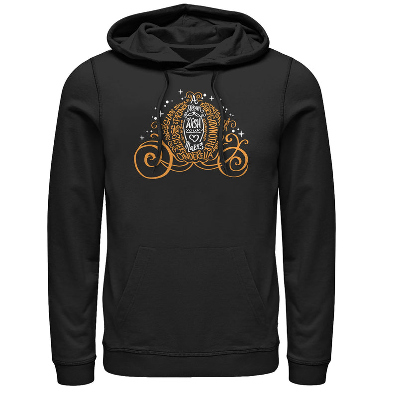 Cinderella Men's Magical Pumpkin Carriage  Pull Over Hoodie  Black  3XL