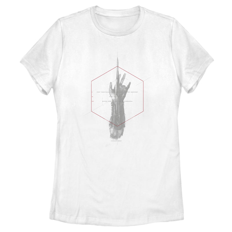 Assassin's Creed Women's Tenets of the Creed  T-Shirt  White  L