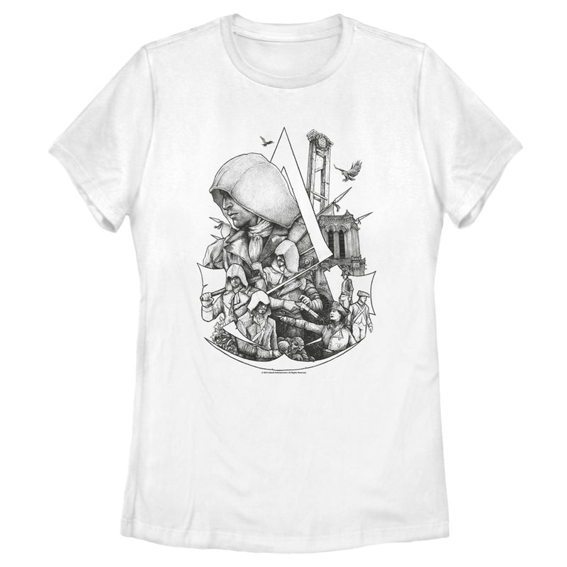 Assassin's Creed Women's Unity  T-Shirt  White  L