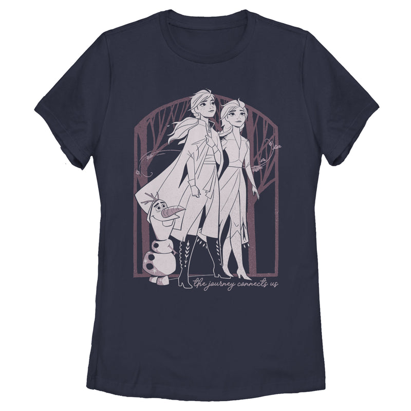 Frozen 2 Sister Forest Frame Womens Graphic T Shirt