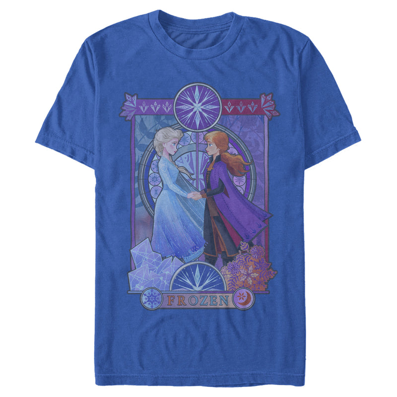 Frozen 2 Men's Sister Stained Glass  T-Shirt