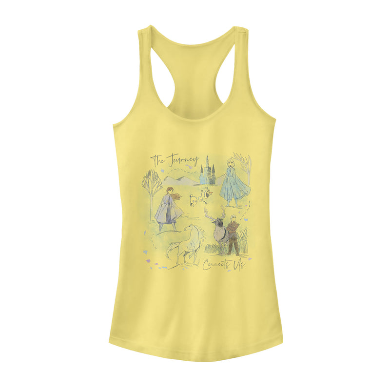 Frozen 2 Journey Watercolor Juniors Graphic Racerback Tank