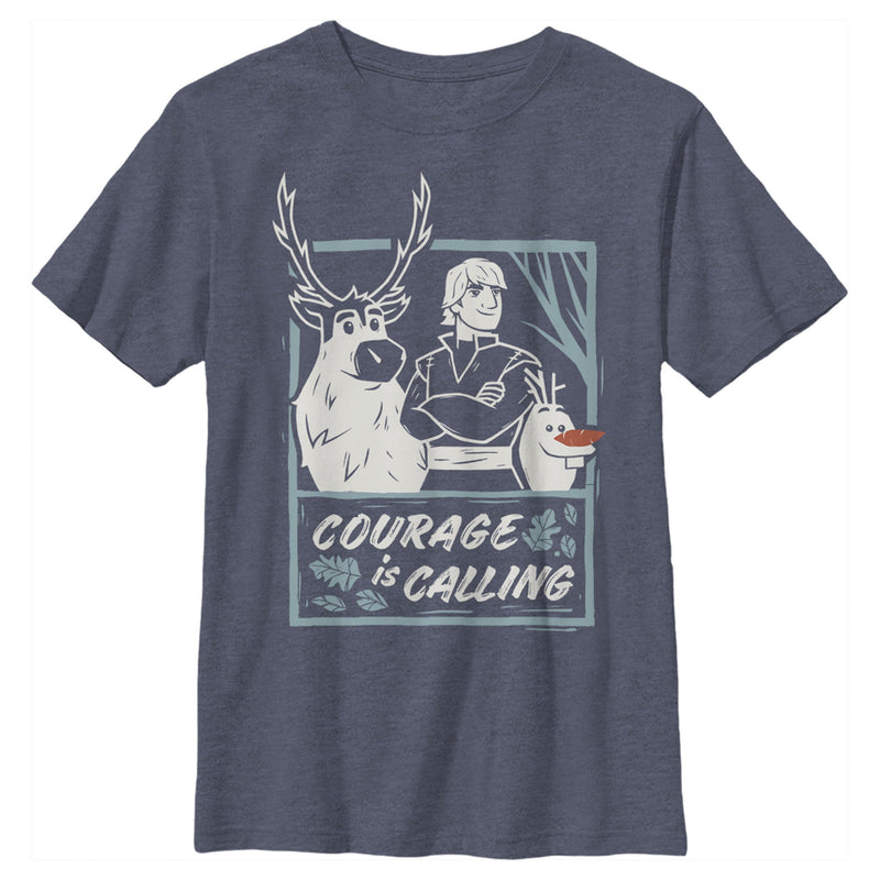 Frozen 2 Sven Kristoff Olaf Trio Courage Is Calling Boys Graphic T Shirt