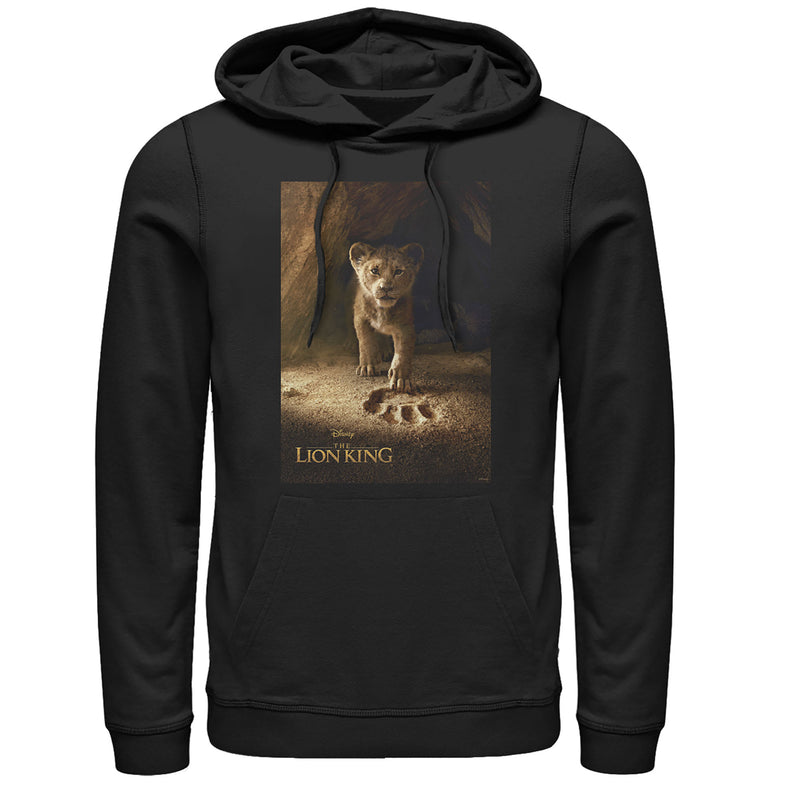 Lion King Simba Paw Movie Poster Mens Graphic Lightweight Hoodie