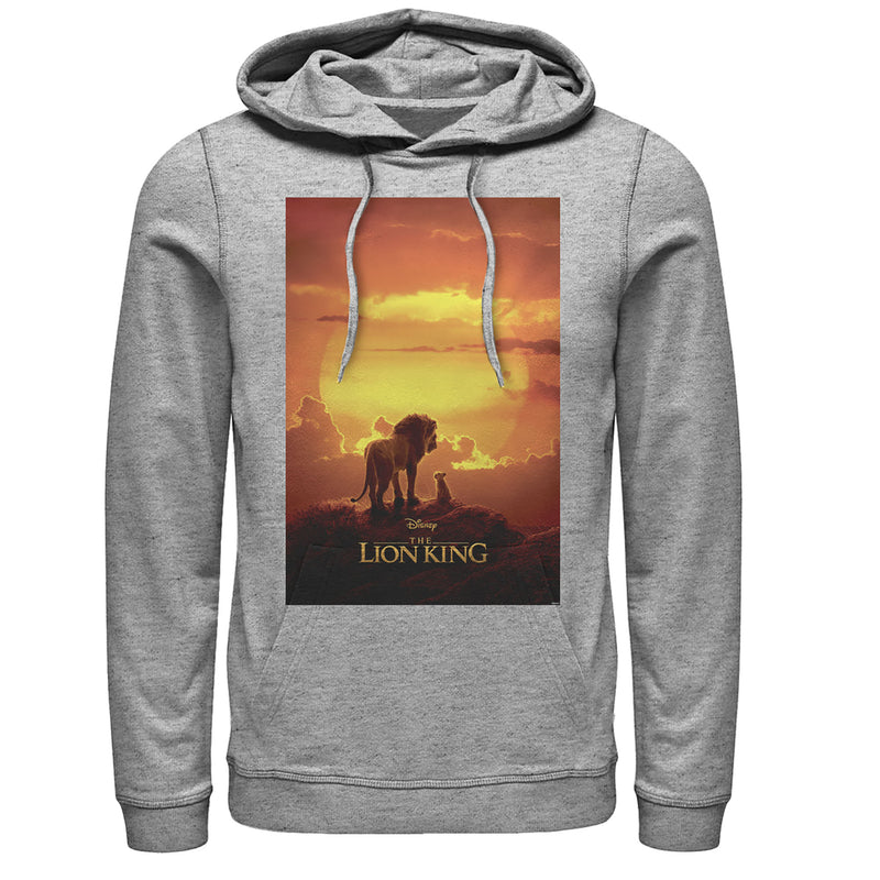 Lion King Men's Pride Rock Movie Poster  Pull Over Hoodie  Athletic Heather  M