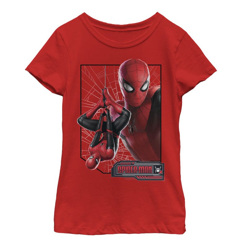 Marvel Spider-Man: Far From Home Web Frame Girls Graphic T Shirt