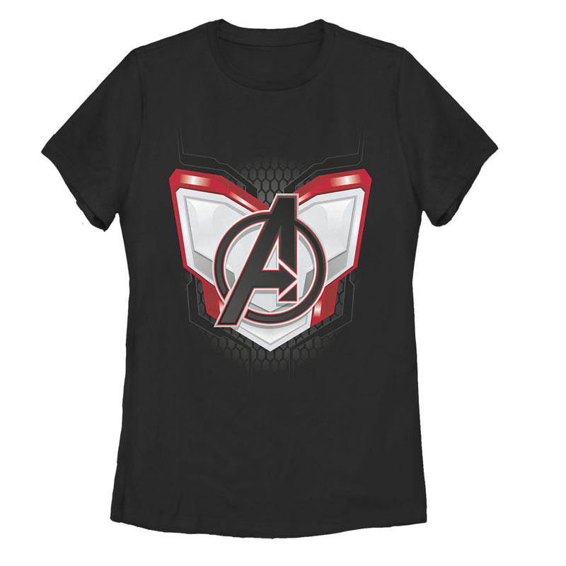 Marvel Women's Avengers: Endgame Logo Quantum Suit  T-Shirt  Black  XL