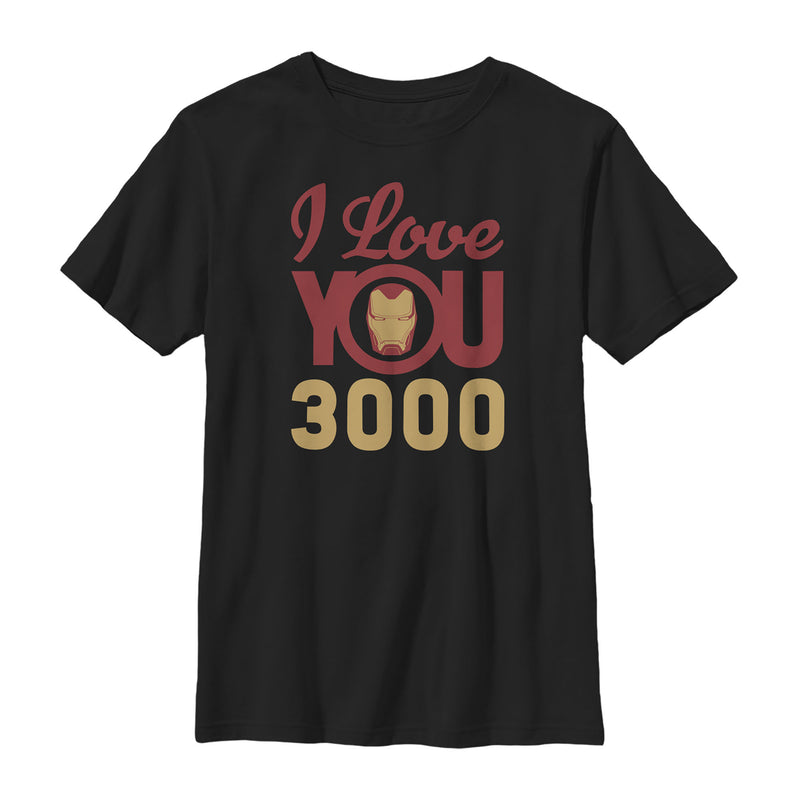 Marvel Boy's Iron Man Love 3000  T-Shirt