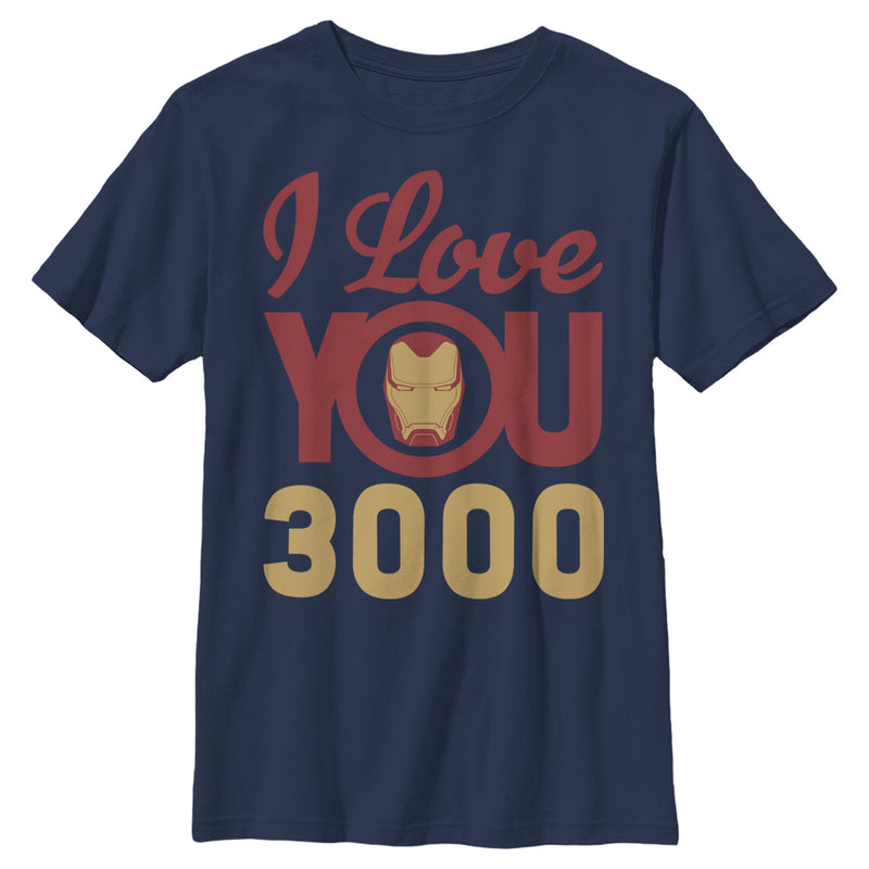 Marvel Boy's Iron Man Love 3000  T-Shirt  Navy Blue  XL