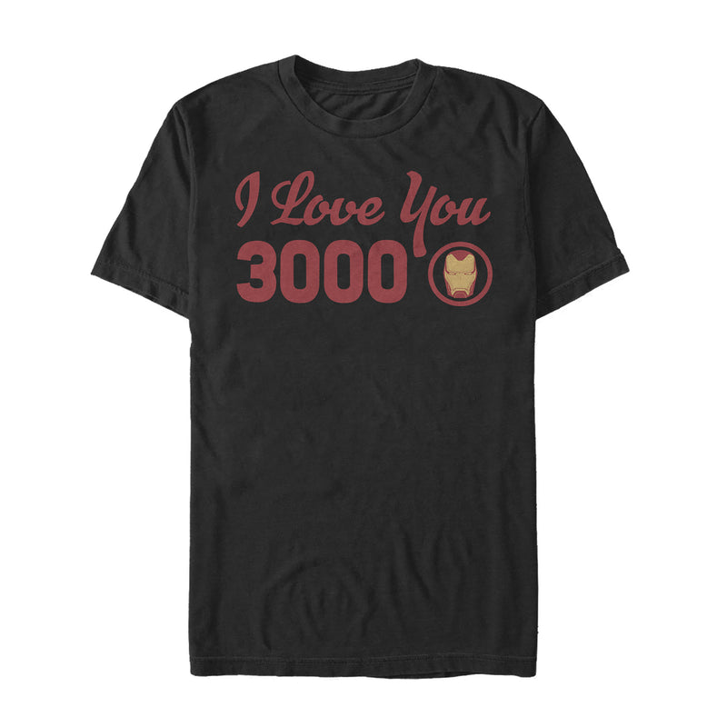Marvel Iron Man Love 3000 Forever Mens Graphic T Shirt