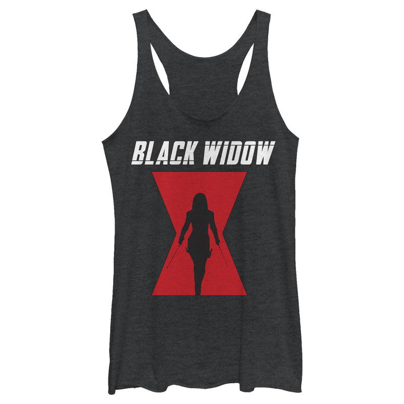 Marvel Black Widow Hourglass Silhouette Womens Graphic Racerback Tank
