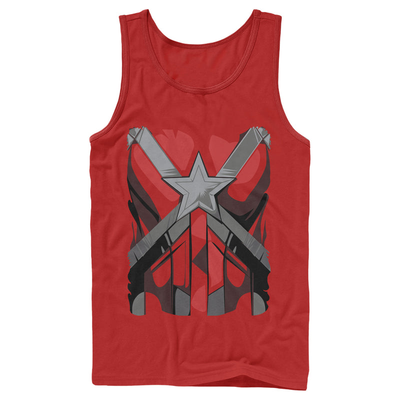 Marvel Black Widow Red Guardian Costume Mens Graphic Tank Top