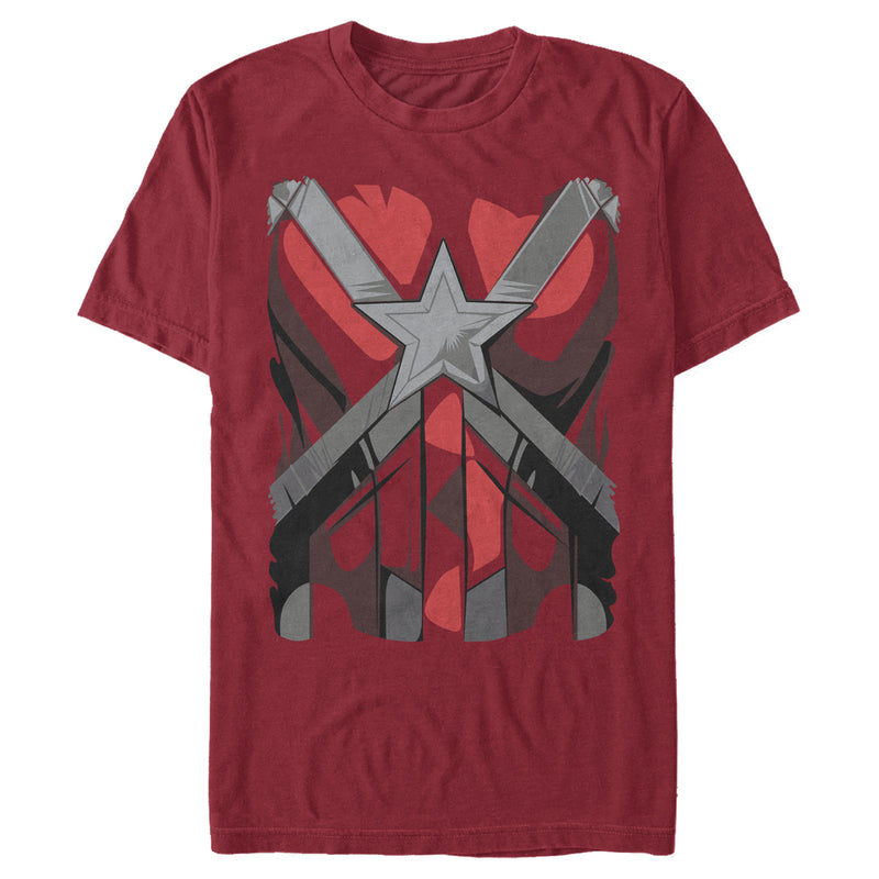 Marvel Black Widow Red Guardian Costume Mens Graphic T Shirt
