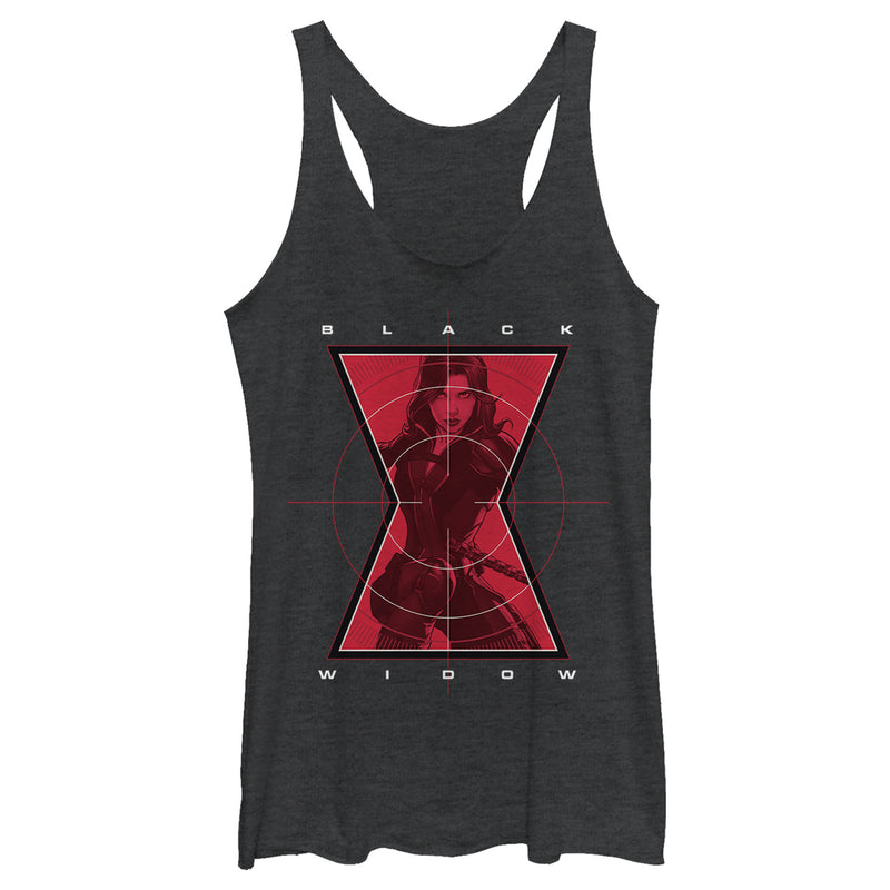 Marvel Black Widow Hero Target Womens Graphic Racerback Tank