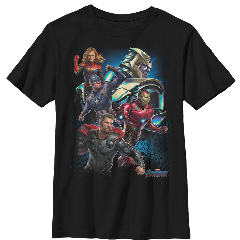 Marvel Avengers: Endgame Earth's Heroes Boys Graphic T Shirt