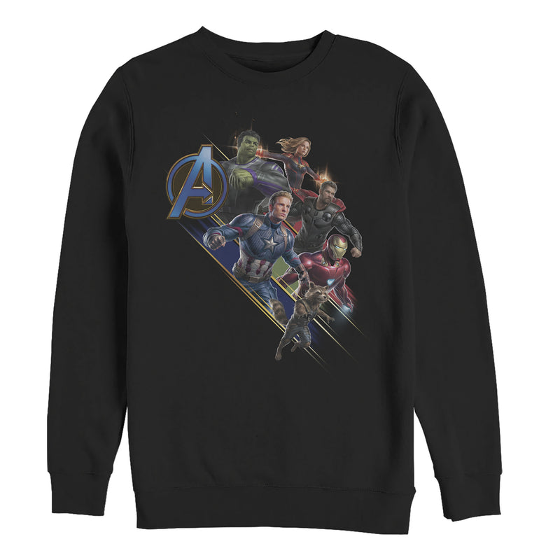Marvel Men's Avengers: Endgame Hero Streaks  Sweatshirt  Black  3XL