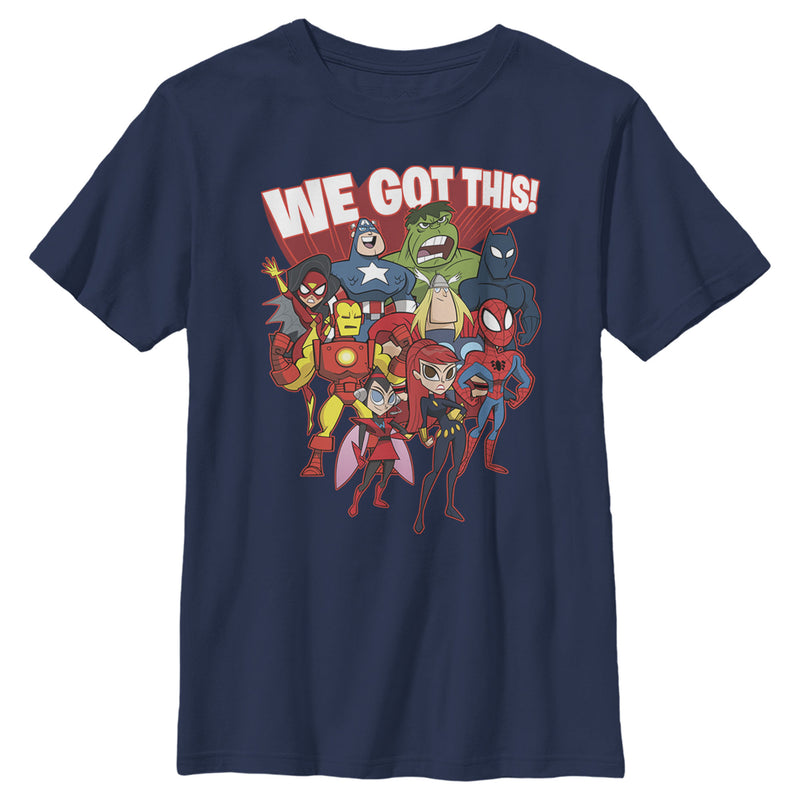 Marvel Boy's We've Got This Collage  T-Shirt