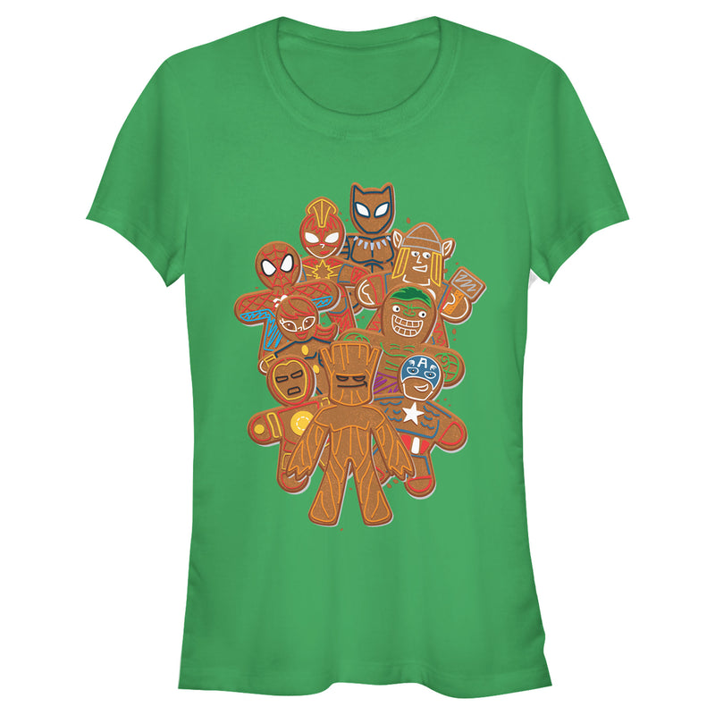 Marvel Junior's Christmas Gingerbread Cookie Heroes  T-Shirt