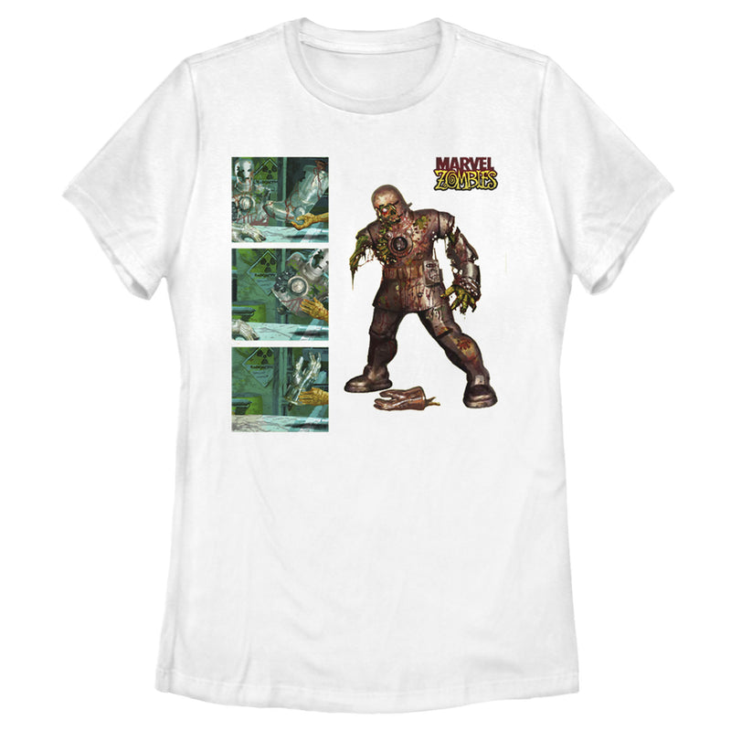 Marvel Zombies Iron Man Panels Womens Graphic T Shirt