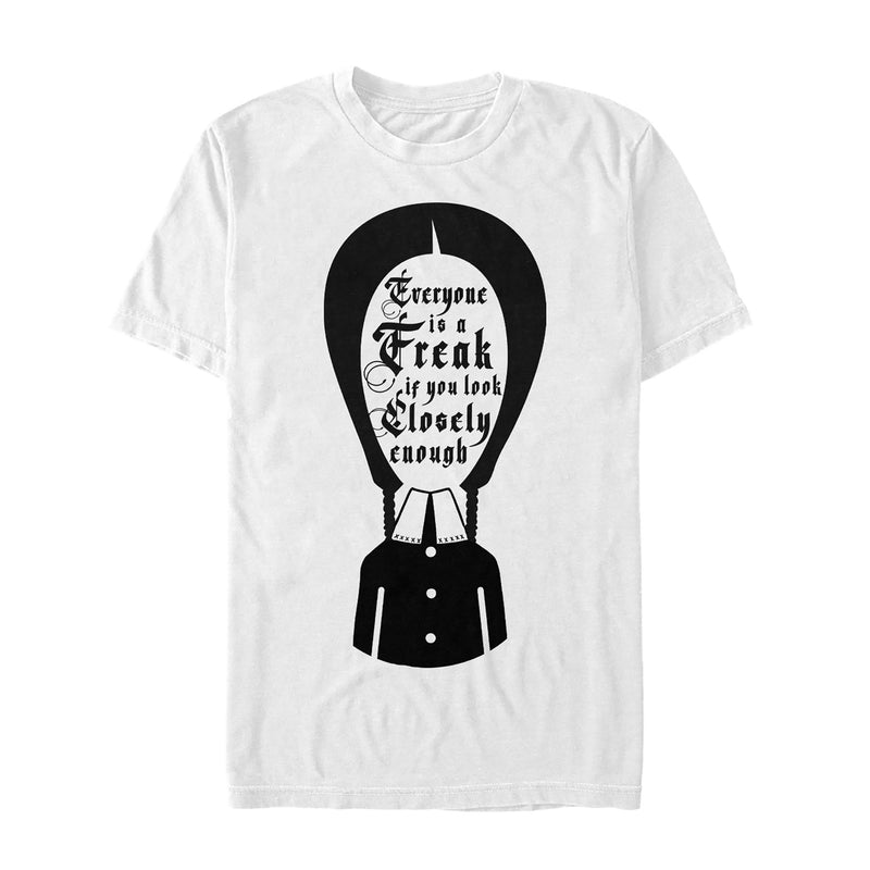 Addams Family Wednesday Everyone Is a Freak Mens Graphic T Shirt