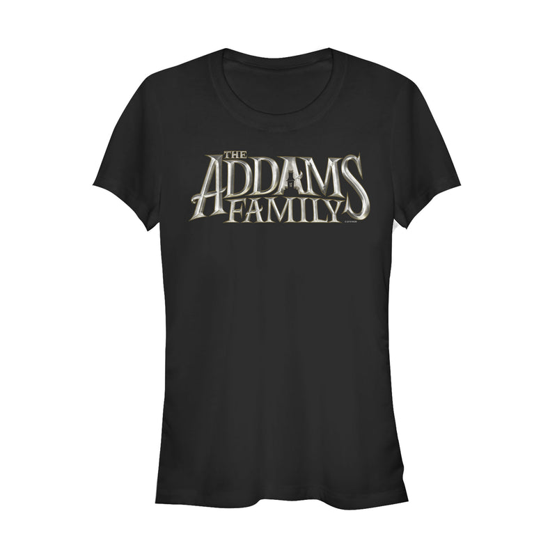 Addams Family Movie Logo Juniors Graphic T Shirt