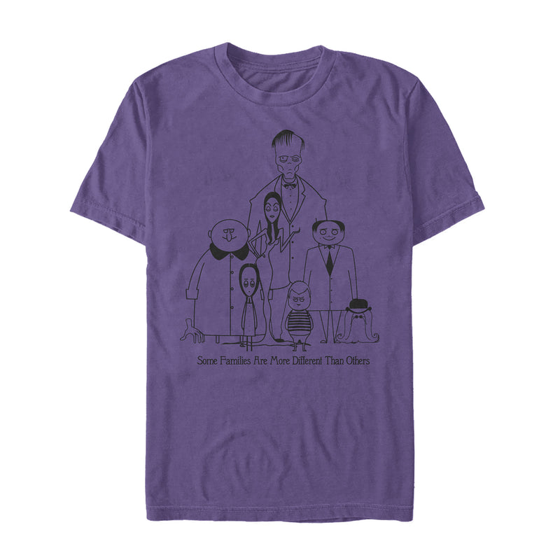 Addams Family Men's Different Kind of Family  T-Shirt  Purple  3XL