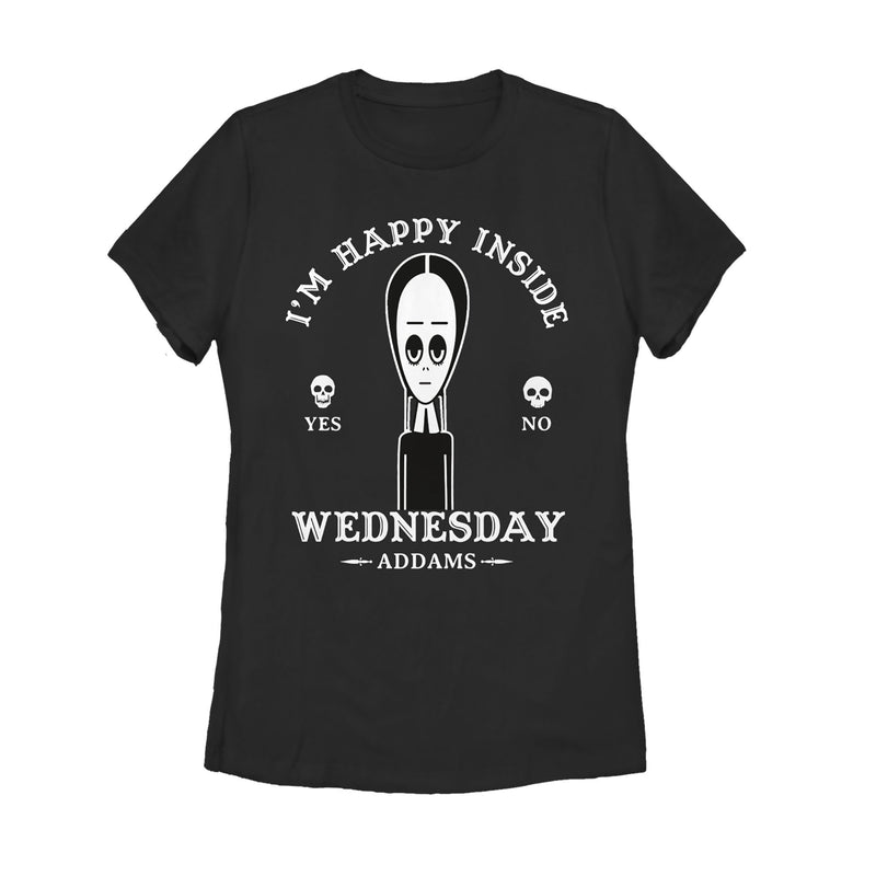 Addams Family Women's Wednesday Happy Ouija Board  T-Shirt  Black  XL