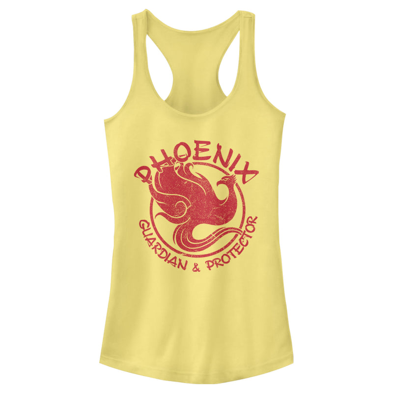 Mulan Phoenix Guardian Juniors Graphic Racerback Tank