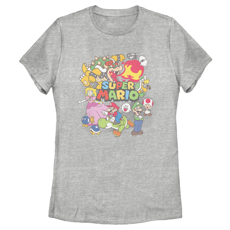 Nintendo Mario Cast Collage Womens Graphic T Shirt