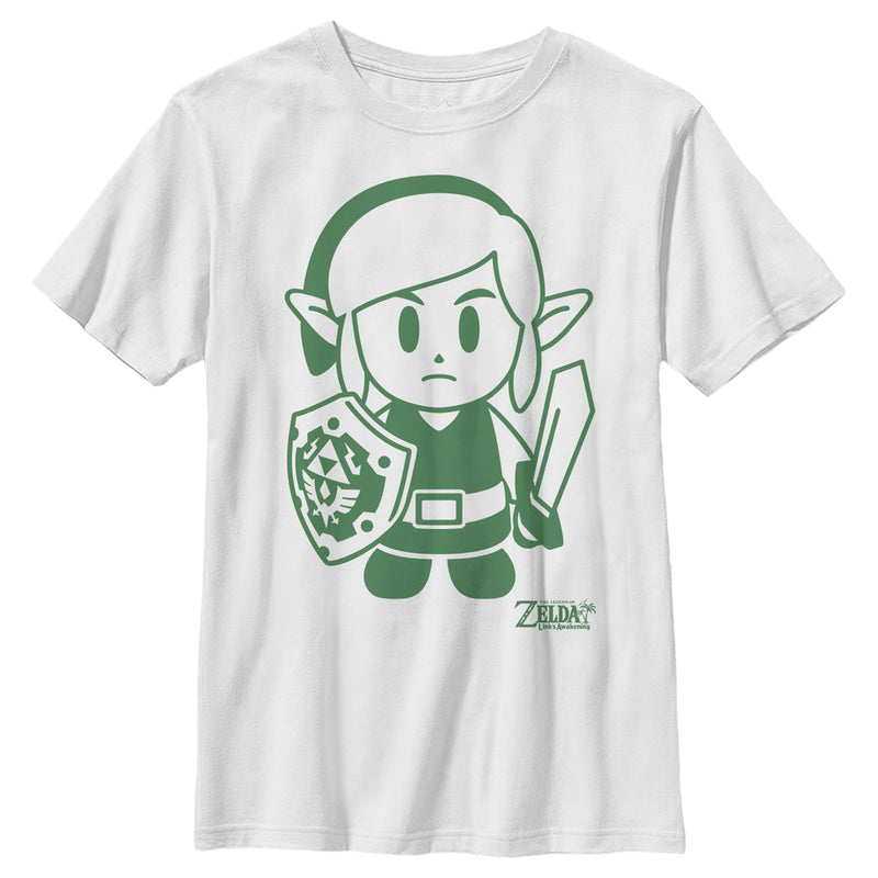 Nintendo Boy's Legend of Zelda Link's Awakening Sleek Avatar  T-Shirt  White  XL