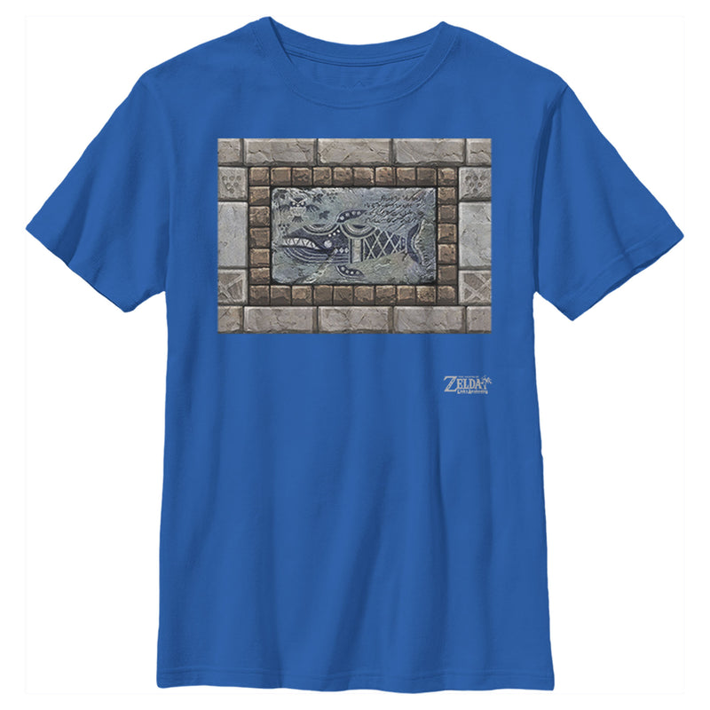 Nintendo Boy's Legend of Zelda Link's Awakening Whale Stone Tablet  T-Shirt