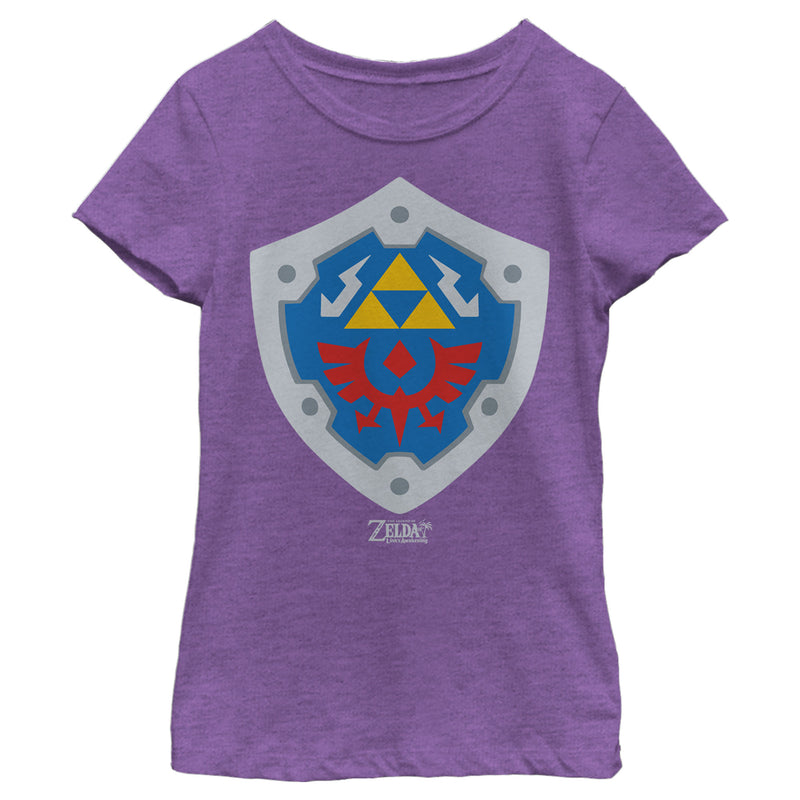 Nintendo Girl's Legend of Zelda Link's Awakening Hylian Shield  T-Shirt