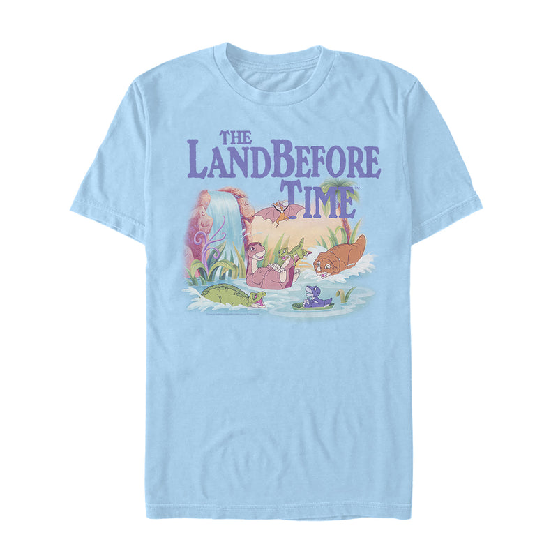 The Land Before Time Men's Dinosaur Summer Splash  T-Shirt