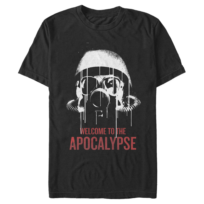 Daybreak Welcome to Apocalypse Mask Mens Graphic T Shirt