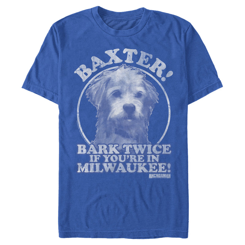 Anchorman Baxter Bark Twice Mens Graphic T Shirt