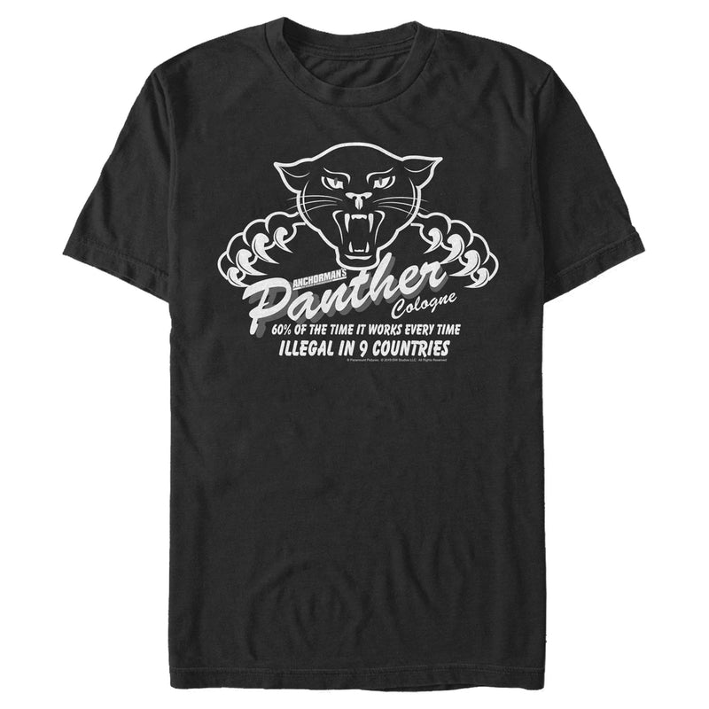 Anchorman Panther Cologne Slogan Mens Graphic T Shirt