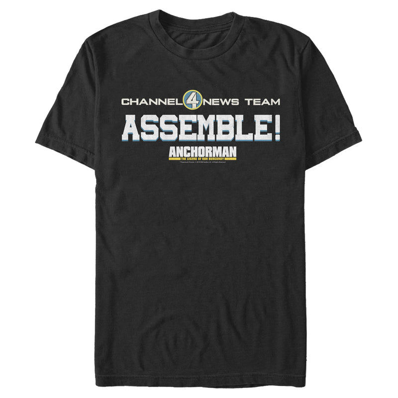 Anchorman Channel 4 Team Assemble Mens Graphic T Shirt