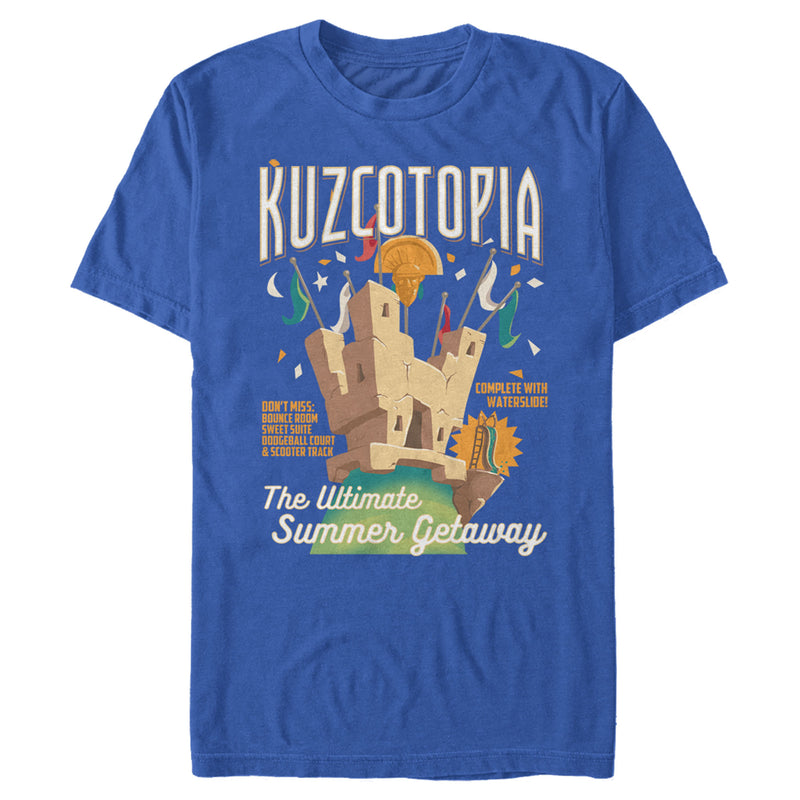 The Emperor's New Groove Men's Kuzcotopia Summer Getaway  T-Shirt