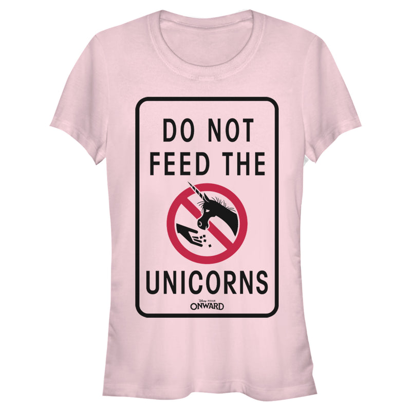 Onward Do Not Feed Unicorn Warning Juniors Graphic T Shirt