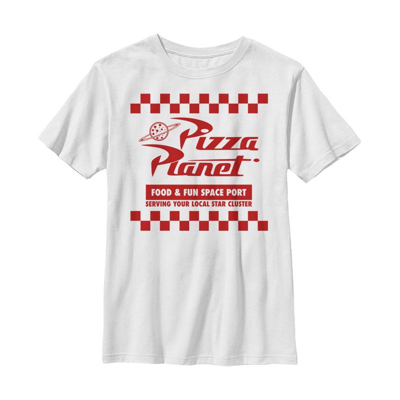 Toy Story Boy's Pizza Planet Uniform  T-Shirt  White  XS