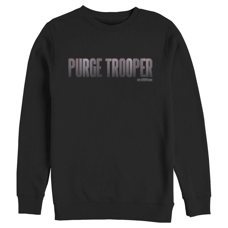 Star Wars Jedi: Fallen Order Men's Purge Trooper  Sweatshirt  Black  2XL