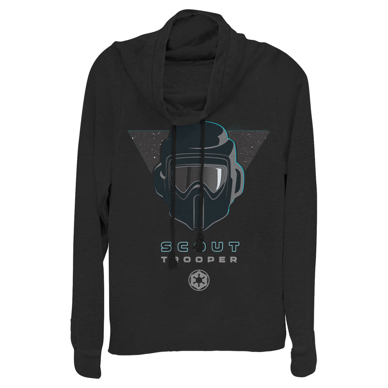 Star Wars Jedi: Fallen Order Scout Trooper Symbol Juniors Graphic Cowl Neck Sweatshirt