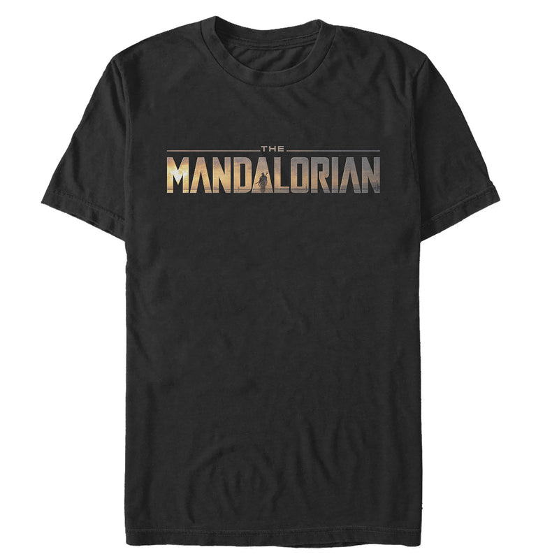 Star Wars The Mandalorian Silhouette Logo Mens Graphic T Shirt