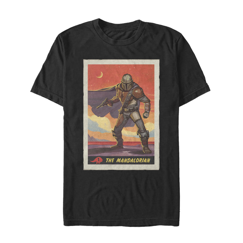 Star Wars The Mandalorian Trading Card Mens Graphic T Shirt