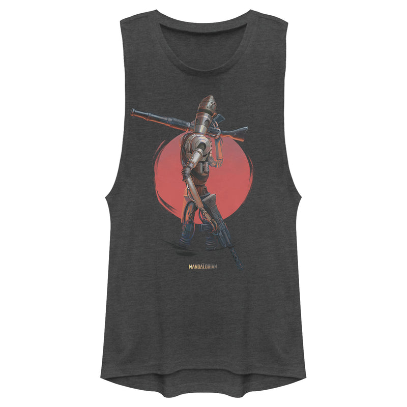 Star Wars The Mandalorian Junior's IG-11 Dusty Sunset  Festival Muscle Tee  Charcoal  XS